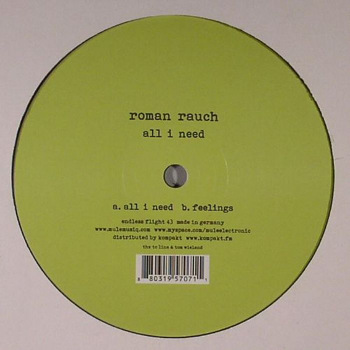 RAUCH, Roman - All I Need
