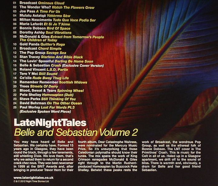 Belle Amp Sebastian Various Late Night Tales Volume Two