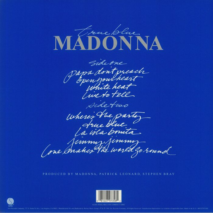 MADONNA - True Blue (remastered)