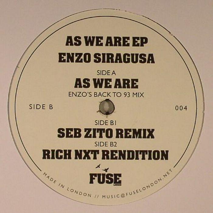 SIRAGUSA, Enzo - As We Are EP