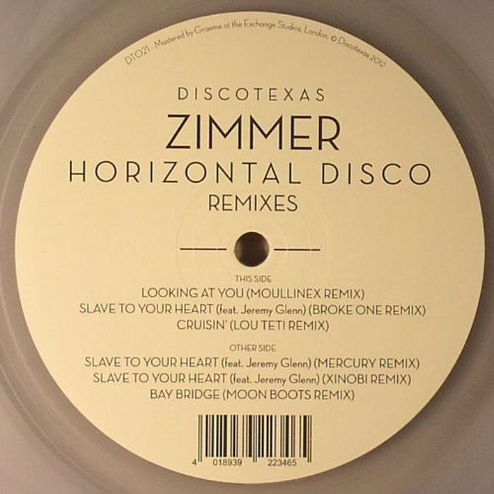ZIMMER - Horizontal Disco (remixes)