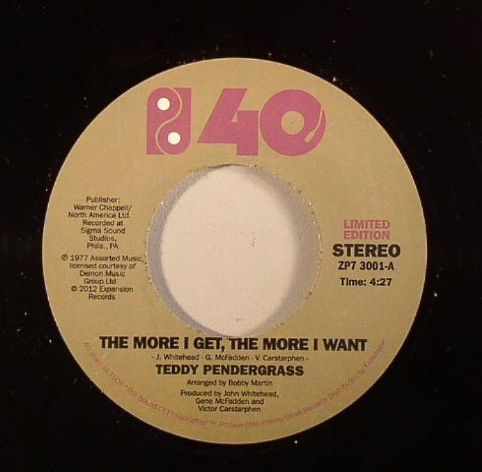 PENDERGRASS, Teddy - The More I Get The More I Want