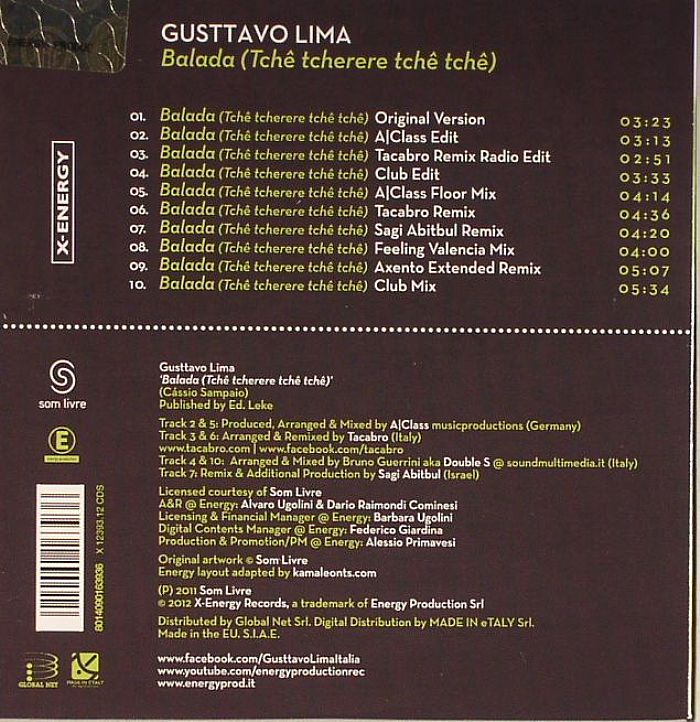 LIMA, Gusttavo - Balada (Tche Tcherere Tche Tche)