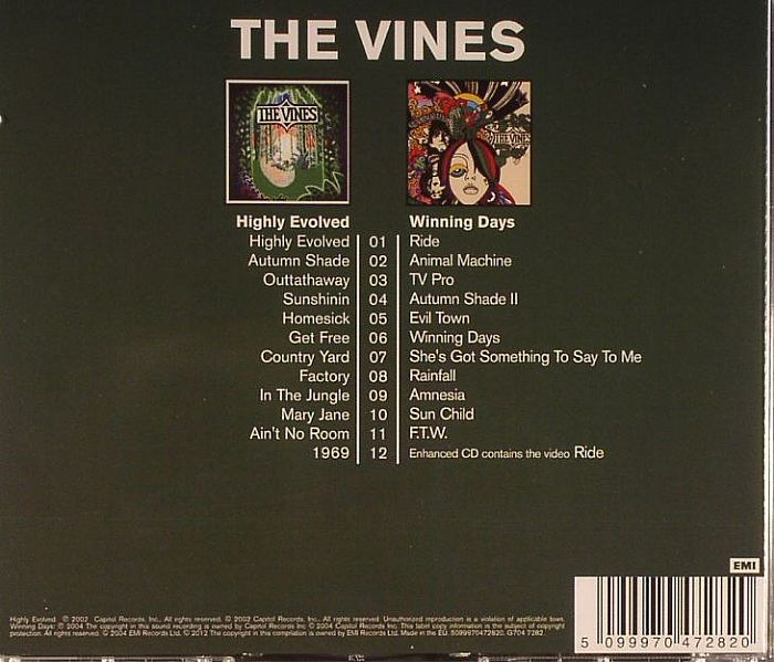 The Vines Highly Evolved Winning Days Vinyl At Juno Records
