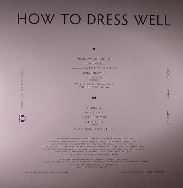 HOW TO DRESS WELL - Total Loss