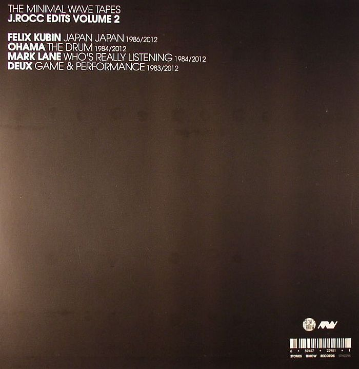J ROCC/FELIX KUBIN/OHAMA/MARK LANE/DEUX - The Minimal Wave Tapes: J Rocc Edits Vol 2