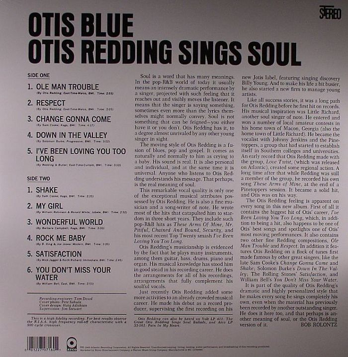 REDDING, Otis - Otis Blue