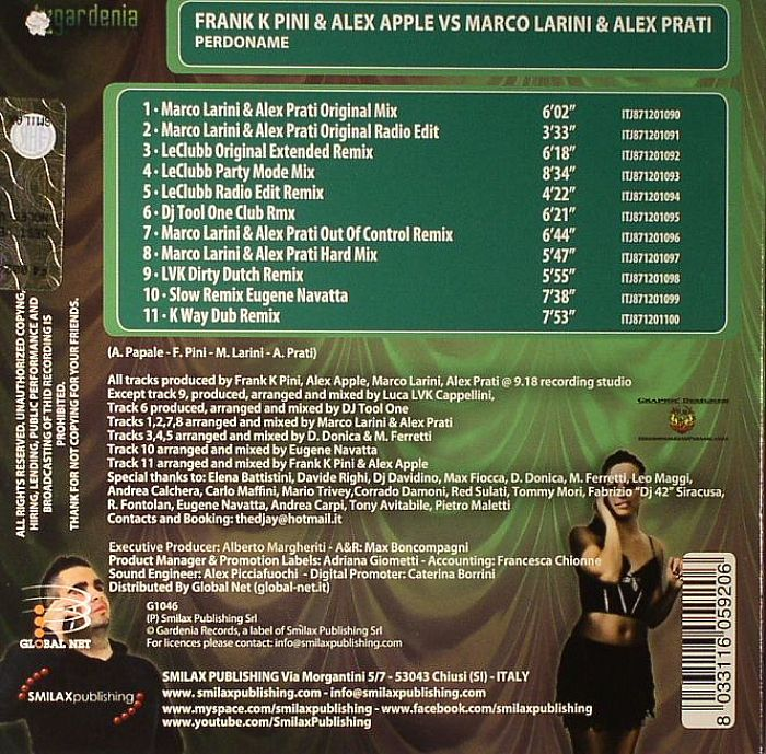 PINI, Frank K/ALEX APPLE vs MARCO LARINI & ALEX PRATI - Perdoname