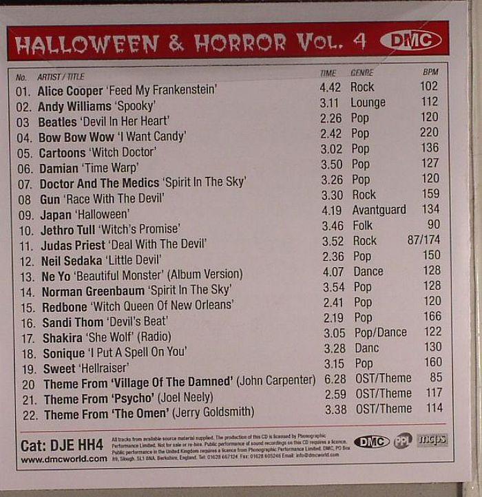 VARIOUS - DMC DJ Essentials Halloween & Horror Vol 4 (Strictly DJ Only)