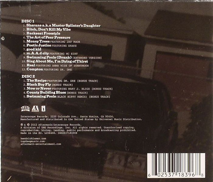 Kendrick Lamar Good Kid Maad City Vinyl At Juno Records