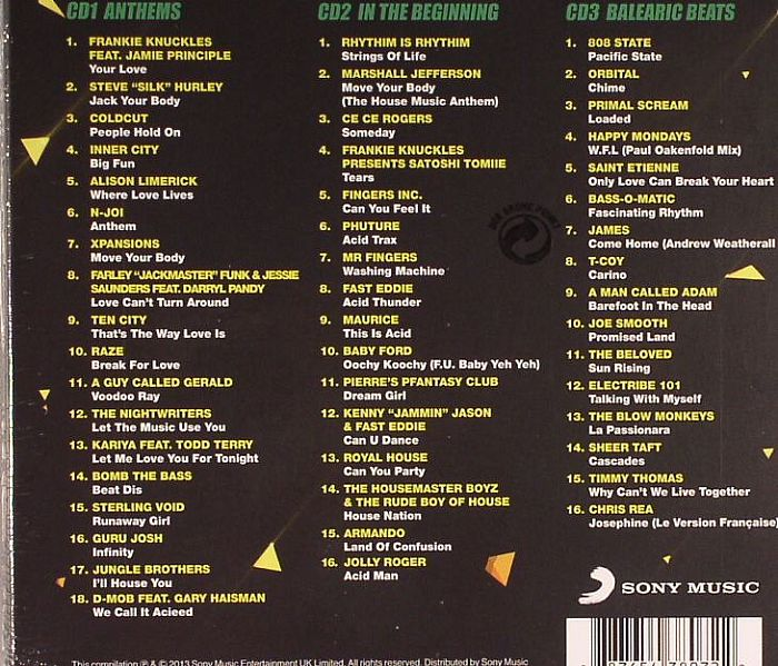 Various acid house anthems vinyl at juno records for Acid house anthems