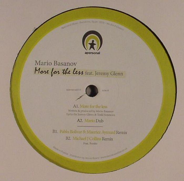 BASANOV, Mario feat JEREMY GLENN - More For The Less