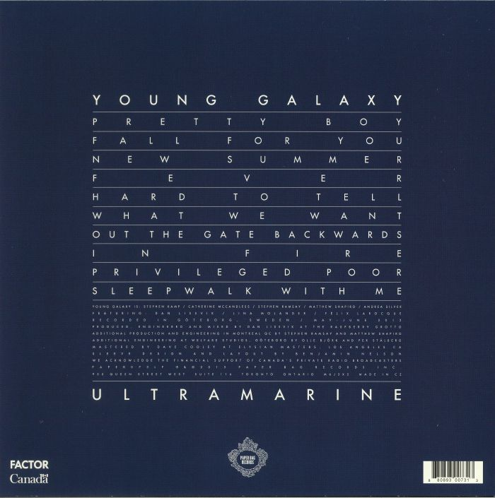 YOUNG GALAXY - Ultramarine