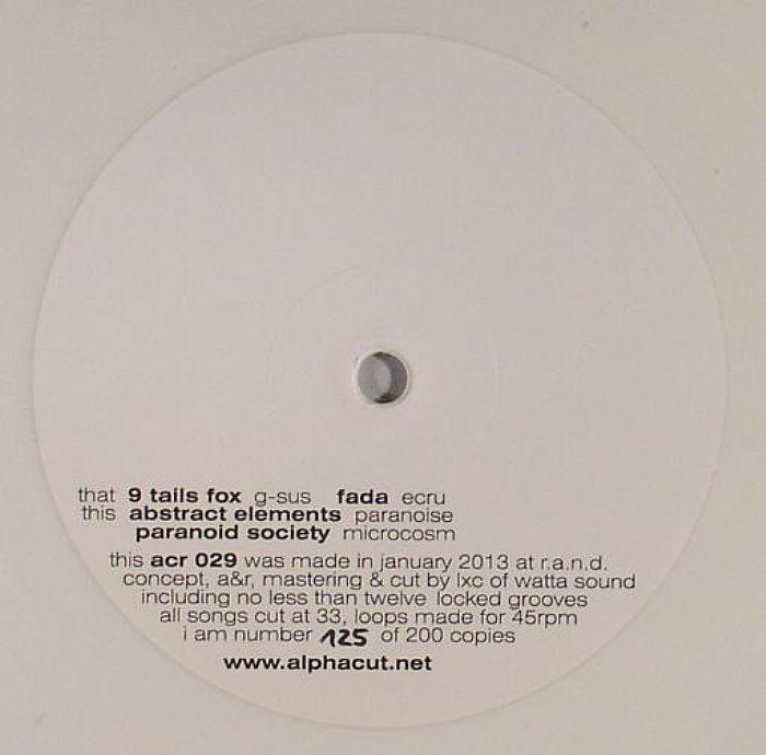 9 TAILS FOX/FADU/ABSTRACT ELEMENTS/PARANOID SOCIETY - Half & Half EP Volume 2