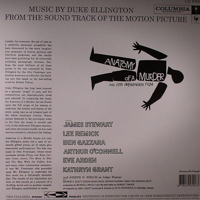 Duke Ellington Anatomy Of A Murder Soundtrack Vinyl At Juno Records