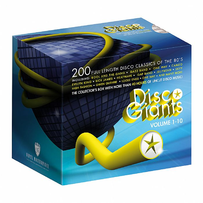 VARIOUS - Disco Giants 10 CD Boxset: 200 Full Length Disco Classics Of The 80's