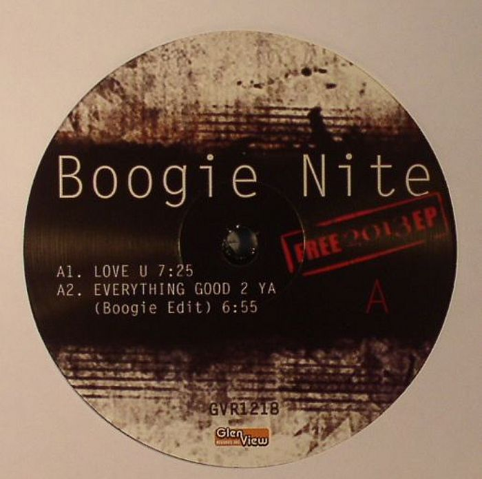 BOOGIE NITE - Free 2013 EP