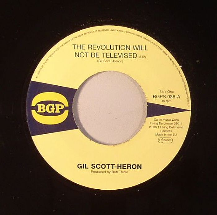 "the revolution will not be televised ""the revolution will not be televised""~a classic from baba gil  scott-heron 9 years ago more jabari akhenamen follow 9,951."