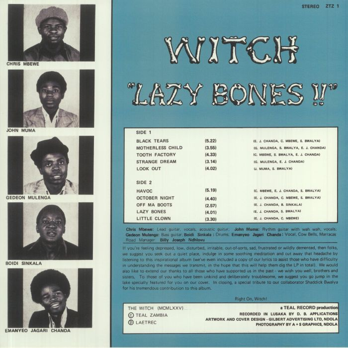 WITCH - Lazy Bones
