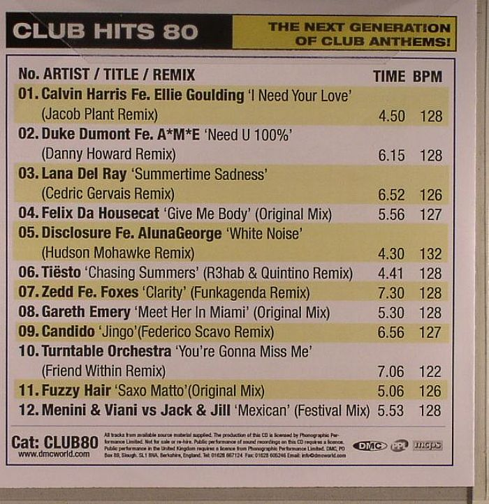 Various - DJ Club Hits 01