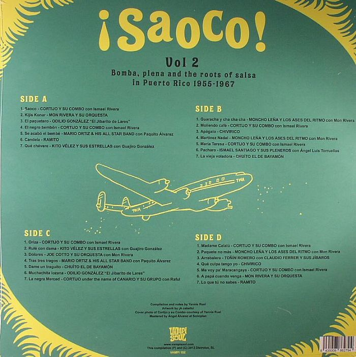VARIOUS - Saoco! Vol 2 Bomba Plena & The Roots Of Salsa In Puerto Rico 1955-1967