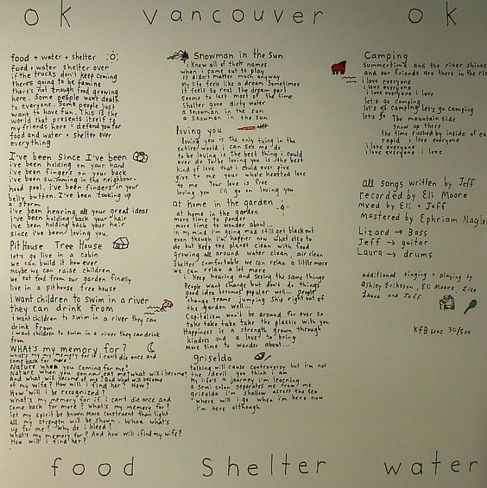 OK VANCOUVER OK - Food Shelter Water