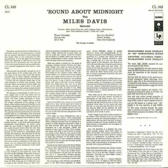DAVIS, Miles - Round About Midnight (mono) (Record Store Day reissue)