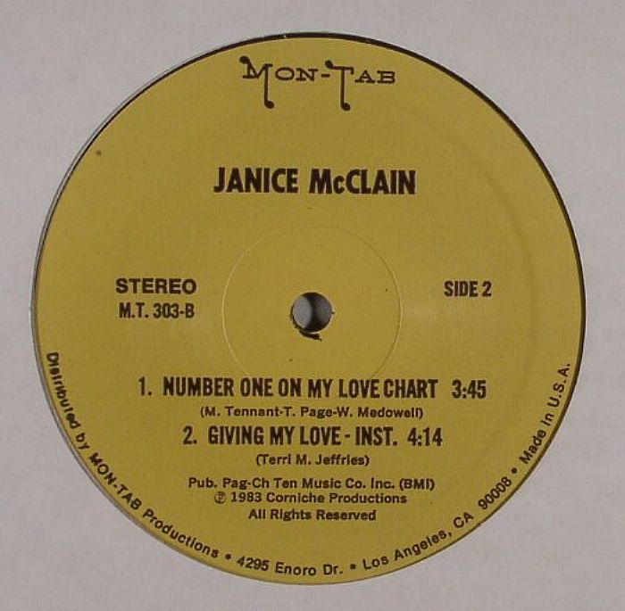 McCLAIN, Janice - Giving My Love