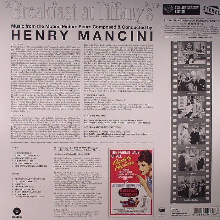 MANCINI, Henry - Breakfast At Tiffany's (Soundtrack)