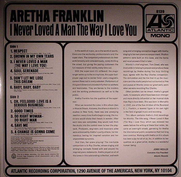 FRANKLIN, Aretha - I Never Loved A Man