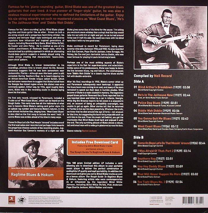 BLIND BLAKE - The Rough Guide To Blues Legends: Blind Blake (Reborn & Remastered)