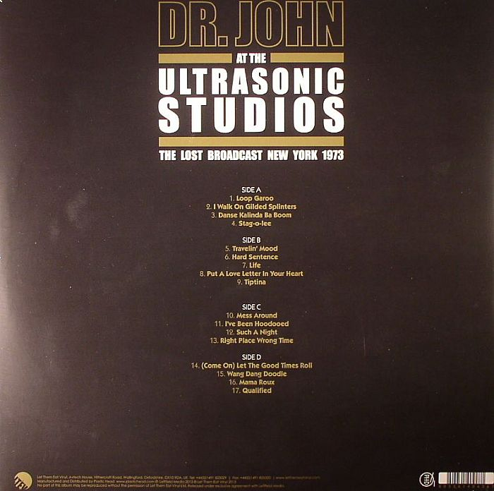 Dr John The Lost Broadcast New York 1973 Vinyl At Juno