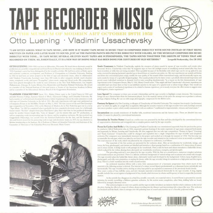 LUENING, Otto/ VLADAMIR USSACHEVSKY - Tape Recorder Music