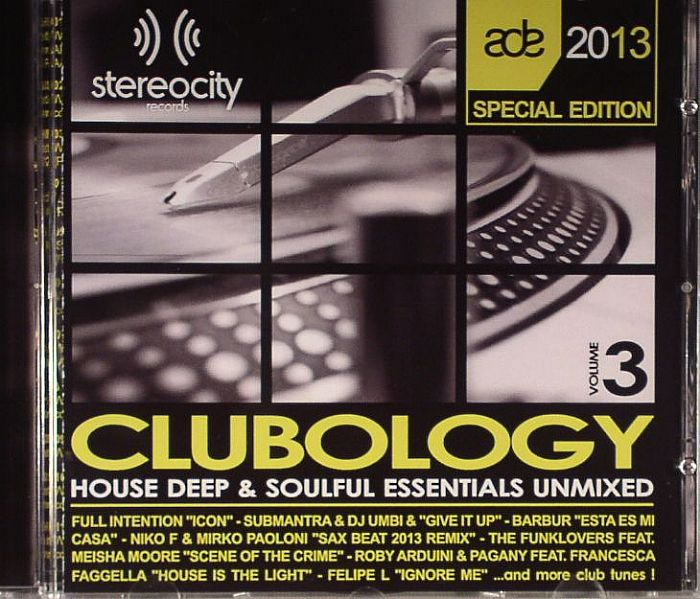 Various clubology volume 3 house deep soulful for Classic house unmixed