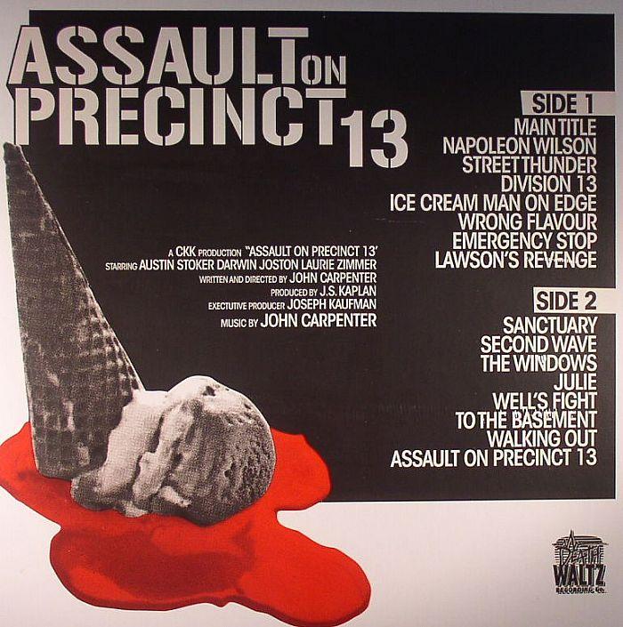 John CARPENTER Assault On Precinct 13 (Soundtrack) vinyl ...