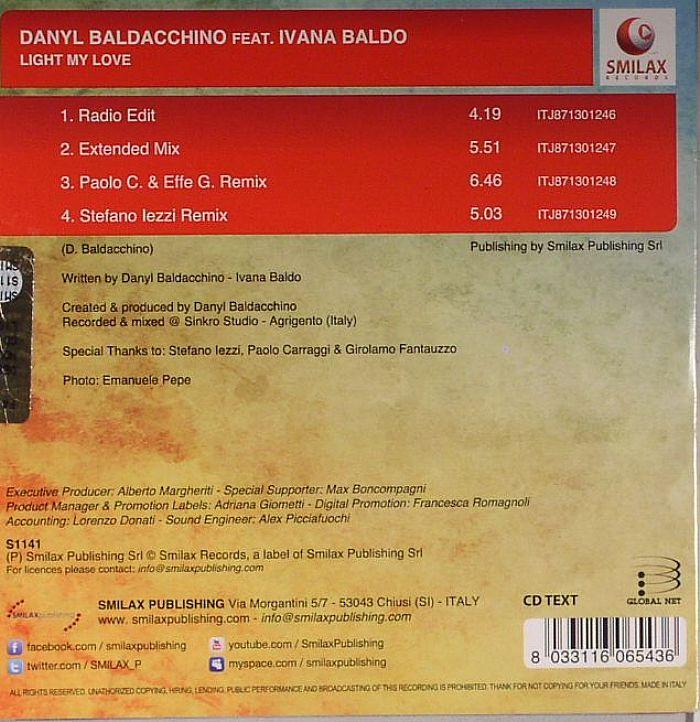 BALDACCHINO, Danyl feat IVANA BALDO - Light My Love