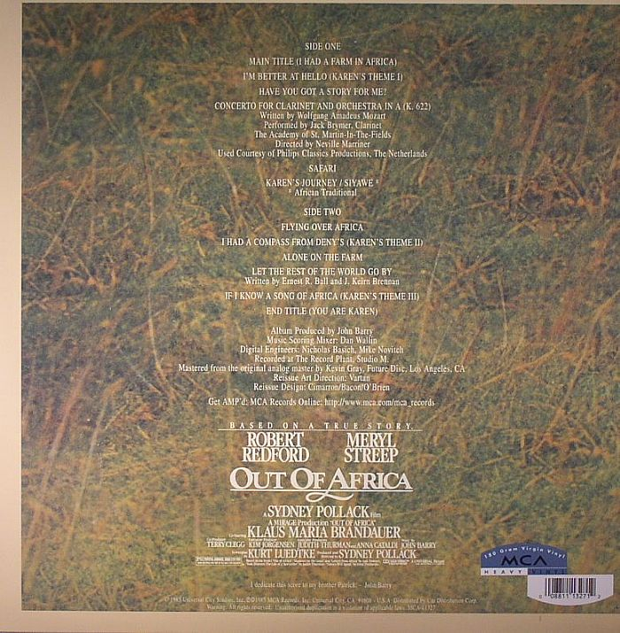 BARRY, John - Out Of Africa (Soundtrack) (remastered)