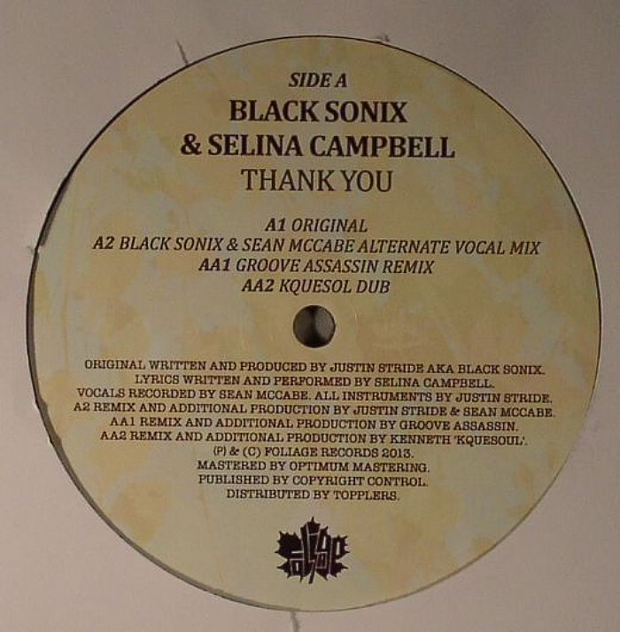 BLACK SONIX feat SELINA CAMPBELL - Thank You