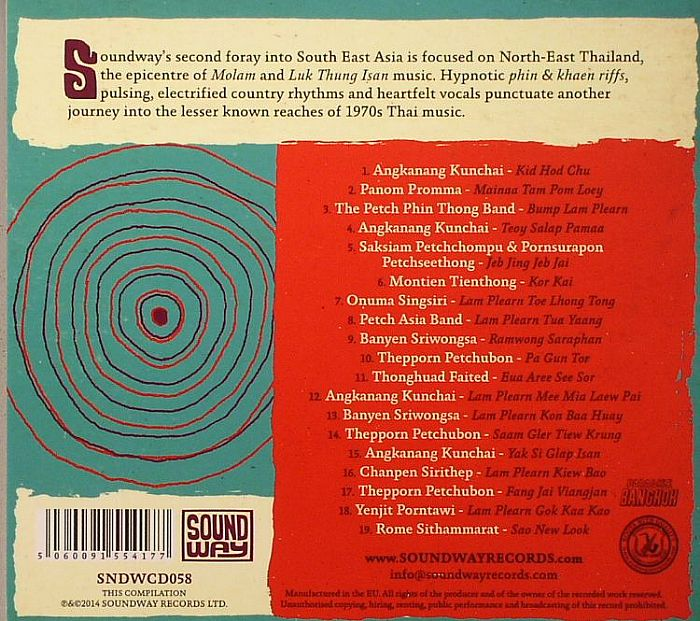 VARIOUS - Sound Of Siam Vol 2: Molam & Luk Thung Isan From North East Thailand 1970-1982