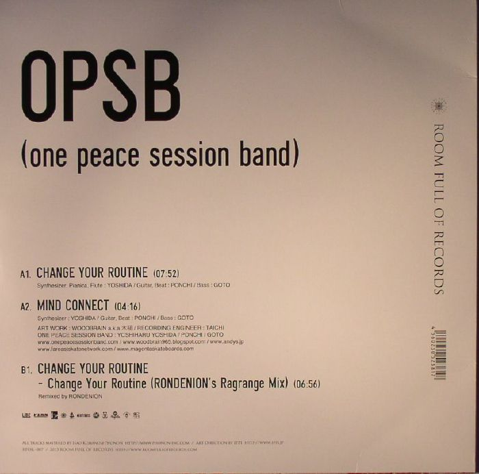 OPSB aka ONE PEACE SESSION BAND - Change Your Routine