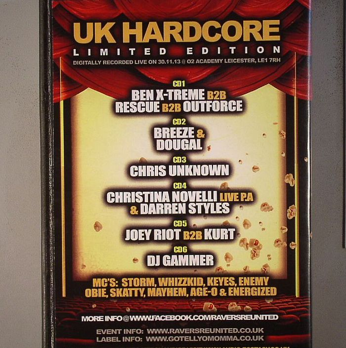 VARIOUS - Ravers Re-united: 7th Birthday 3D Movie Night Recorded @ The O2 Academy, Leicester 30/11/13