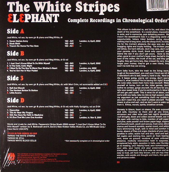 white stripes the elephant vinyl gatefold 2xlp ebay