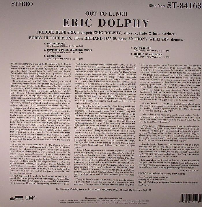 DOLPHY, Eric - Out To Lunch