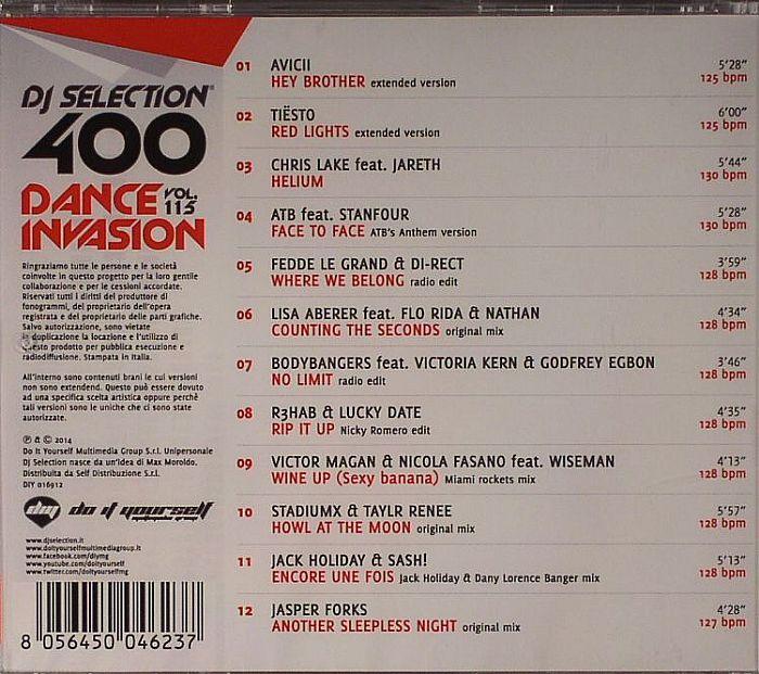 VARIOUS - DJ Selection 400 Dance Invasion Vol 115