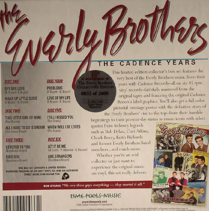 EVERLY BROTHERS, The - The Cadence Years