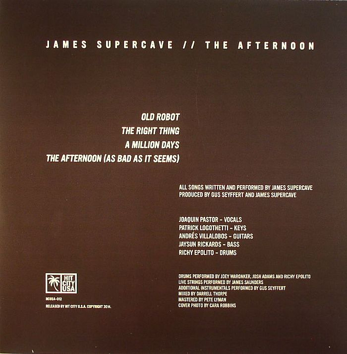 JAMES SUPERCAVE - The Afternoon