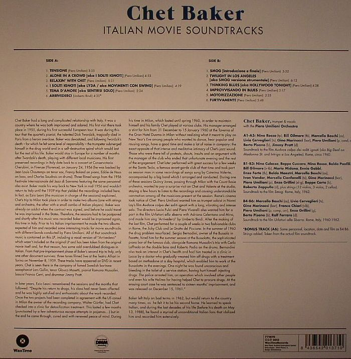 BAKER, Chet - Italian Movie Soundtracks (remastered)
