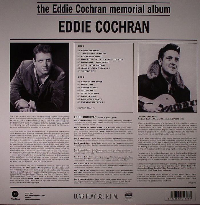 Eddie Cochran The Eddie Cochran Memorial Album Remastered