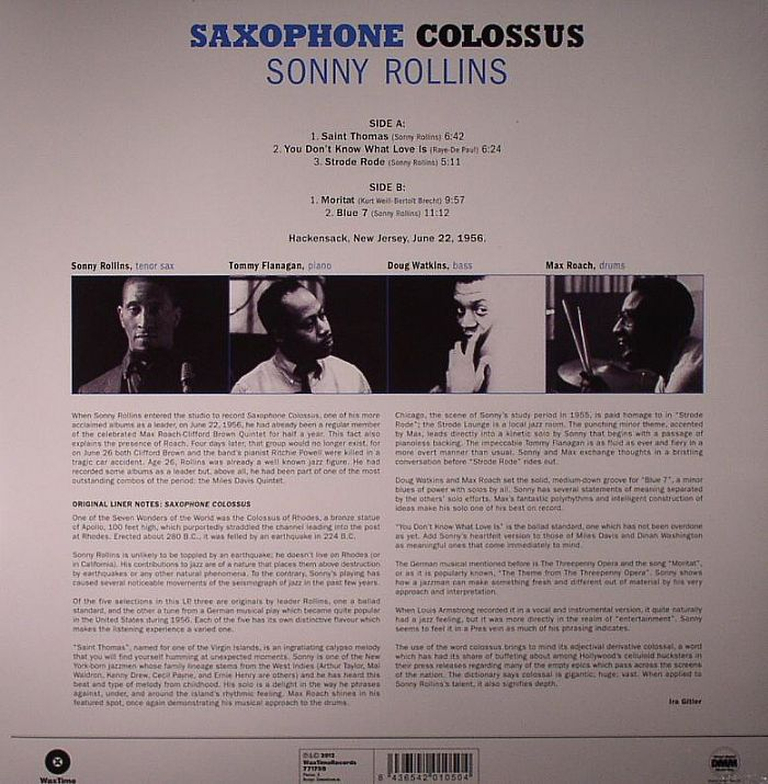 ROLLINS, Sonny - Saxophone Colossus (remastered)