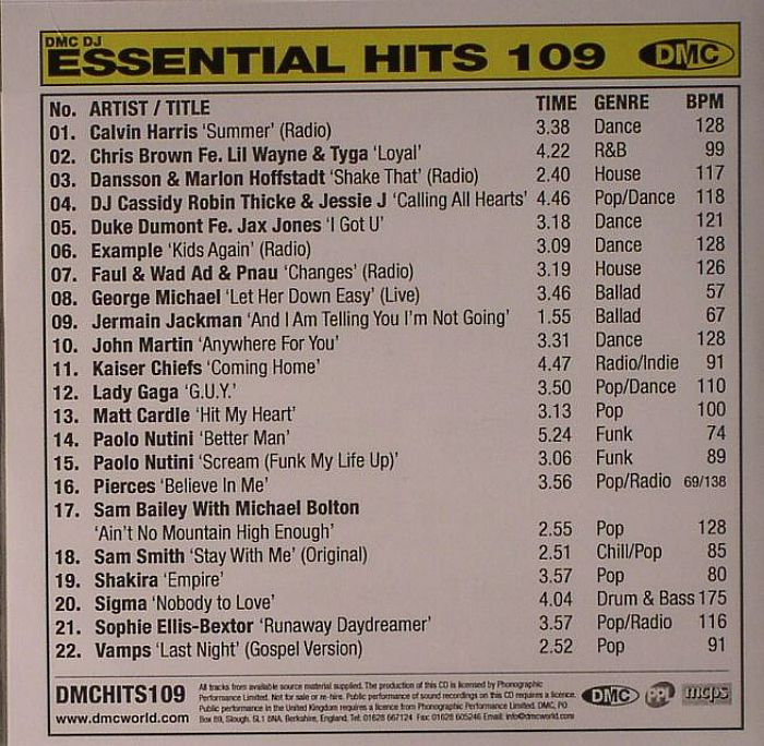 Various Essential Hits 109 Mid Month Chart Amp Pre Releases
